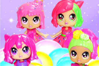 Bubble Trouble Shimmer Series are here! With stretchy, scented hair and soft, squishy outfits, each one has a sticky, smooshy Bubble Buddy bestie! Collect them all!