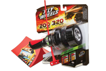 The Most Extreme Performance Ever! Fly Wheels are one of the fastest wheels around! Rip it up to 320 scale KMH! Hit the Stunt Ramp and jump them up to 9 metres in the air.