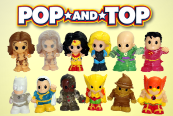 POP them, TOP them! Introducing our new Pop and Top Ooshies. Get ready to meet your new DC characters. There are 12 new  characters to collect!